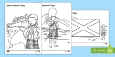 Saint Andrew's Day Scottish Colouring Pages