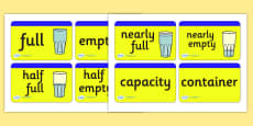 Capacity Word Cards for Visually Impaired