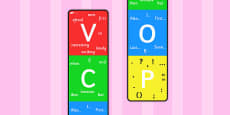 Vertical VCOP Display Banner