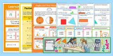 UKS2 Maths Working Wall Display Pack