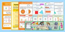 UKS2 Maths Working Wall Display Pack