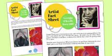 Artist Fact Sheet Georgia O'Keeffe