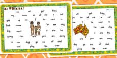 Australia - Aboriginal and Torres Strait Islander People Themed FS2 Word Mats