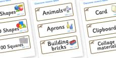 Buzzard Themed Editable Classroom Resource Labels