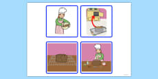 Sequencing Cards - Making a Cake