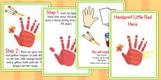 Handprint Little Red Hens Activity