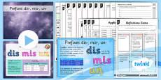 PlanIt Y3 SPaG Lesson Pack: Prefixes dis-, mis-, un-