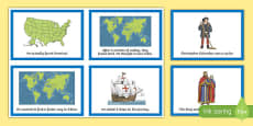Columbus Day Retell Story Cards