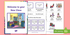 Welcome to Your New Class Booklet