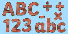 Display Lettering & Symbols (Bricks)