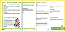 Tour of Britain Differentiated Reading Comprehension Activity