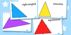 Types Of Triangles Display Posters