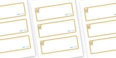 Camel Themed Editable Drawer-Peg-Name Labels (Blank)