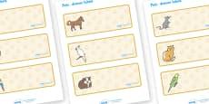 Editable Drawer- Peg - Name Labels (Pets)