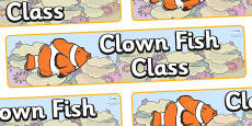 Clownfish Themed Classroom Display Banner