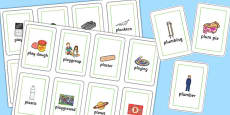 Two Syllable PL Sound Flash Cards