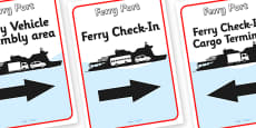 Ferry Port Role Play Display Posters