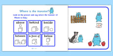 Where Is The Monster? Preposition Game
