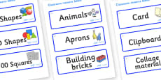 Crystals Themed Editable Classroom Resource Labels