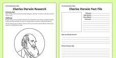 Charles Darwin Research Activity Sheet