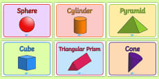 Editable Class Group Signs (3D Shapes)