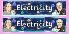 Electricity Display Banner