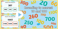 Rounding to 10 and 100 with real world contexts PowerPoint