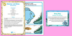 Sharing Playdough Busy Bag Prompt Card and Resource Pack to Support Teaching on The Rainbow Fish