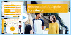 Introduction and Greetings in Spanish PowerPoint