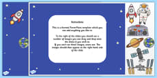 Space-Themed Editable PowerPoint Background Template