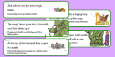 Jack and the Beanstalk Story Sequencing Cut and Stick Activity Polish Translation