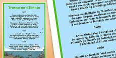 Trasna na dTonnta Song Lyrics Gaeilge