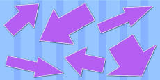 Purple Directional Arrows Cut Outs