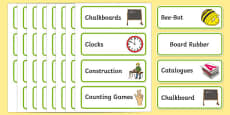 Kingfisher Themed Editable Additional Classroom Resource Labels