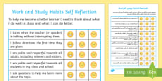 Work and Study Student Self Assessment Checklist Arabic/English