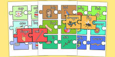 Compound Words Jigsaw Pairing Game