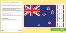 New Zealand Flag Behaviour Management Reward System