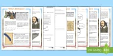 KS2 William Shakespeare Differentiated Reading Comprehension Activity