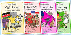 Australia - Travel Agents Role Play Display Posters