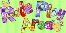 Role Play Area Display Lettering