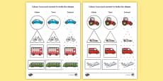Transport 2D Shape Colour, Trace and Join the Dots