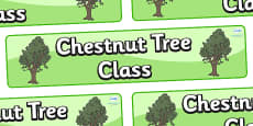 Chestnut Tree Themed Classroom Display Banner