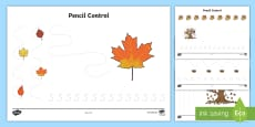 * NEW * Forest and Woodland Pencil Control Activity Sheets