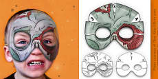 3D Halloween Zombie Monster Role Play Mask