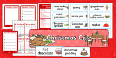 Christmas Cafe Role Play Pack