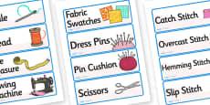 Fashion Design Studio Role Play Labels