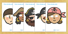 Pirates Role Play Masks