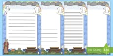 Noah's Ark A4 Page Borders