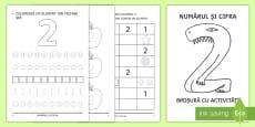 Numărul și cifra 2 Broșură cu activități