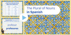 The Plural of Nouns in Spanish PowerPoint